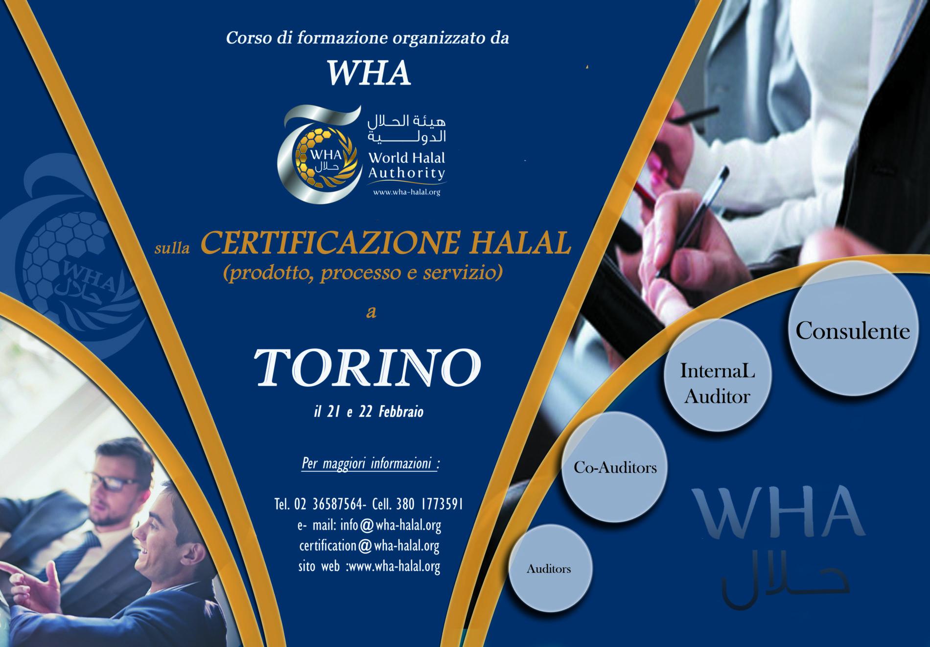 Corso di formazione Wha a Torino