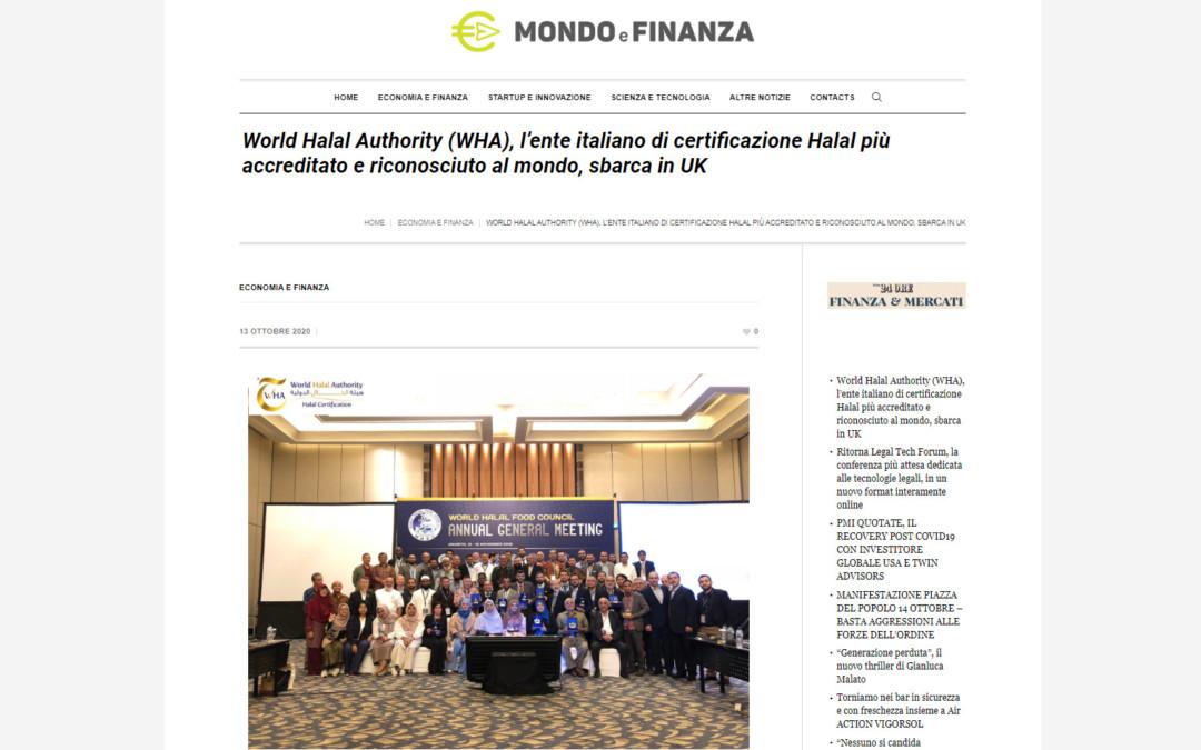 World Halal Authority (WHA), l'ente italiano di certificazione Halal più accreditato e riconosciuto al mondo, sbarca in UK