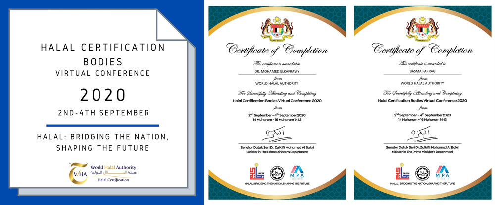 "WORLD HALAL AUTHORITY PARTECIPA ALLA ""HALAL BODIES CERTIFICATION 2020"""