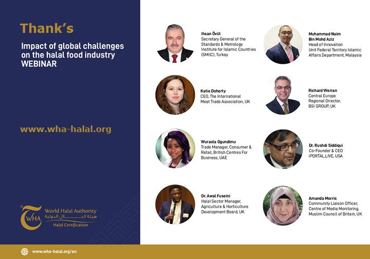 Covid19: industria alimentare in caduta libera ma non quella Halal; World Halal Authority riunisce autorità internazionali in un webinar per aiutare le aziende a superare il 2021